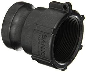 """Banjo 200A Polypropylene Cam & Groove Fitting, 2"""" Male Adapter x NPT Female"""