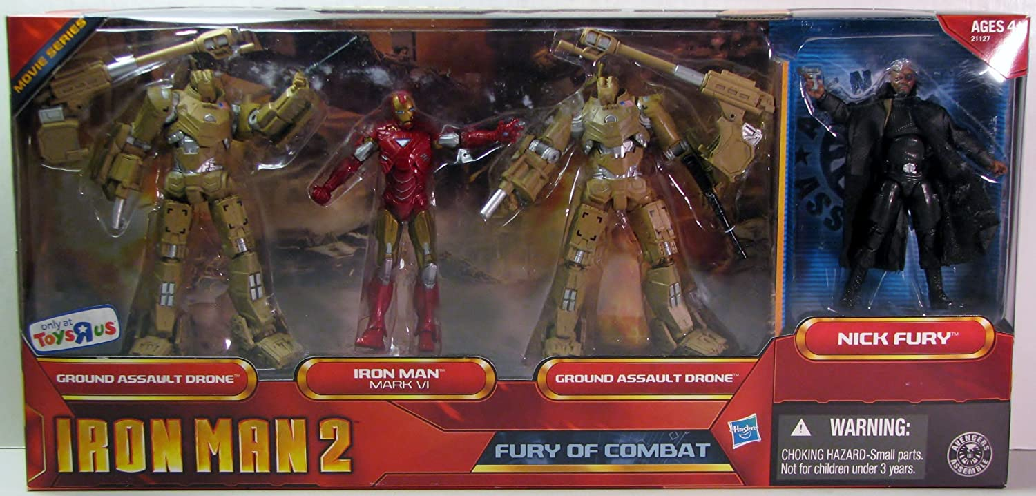 "Ground Assault Drone Marvel Universe Iron Man 2 3.75/"" Fury of Combat Toys R Us"