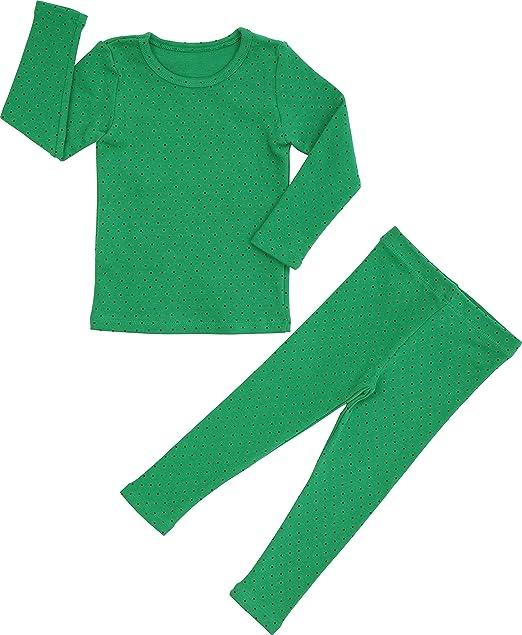 Amazon.com: Juego de pijama de lunares para bebés y niñas 6M ...
