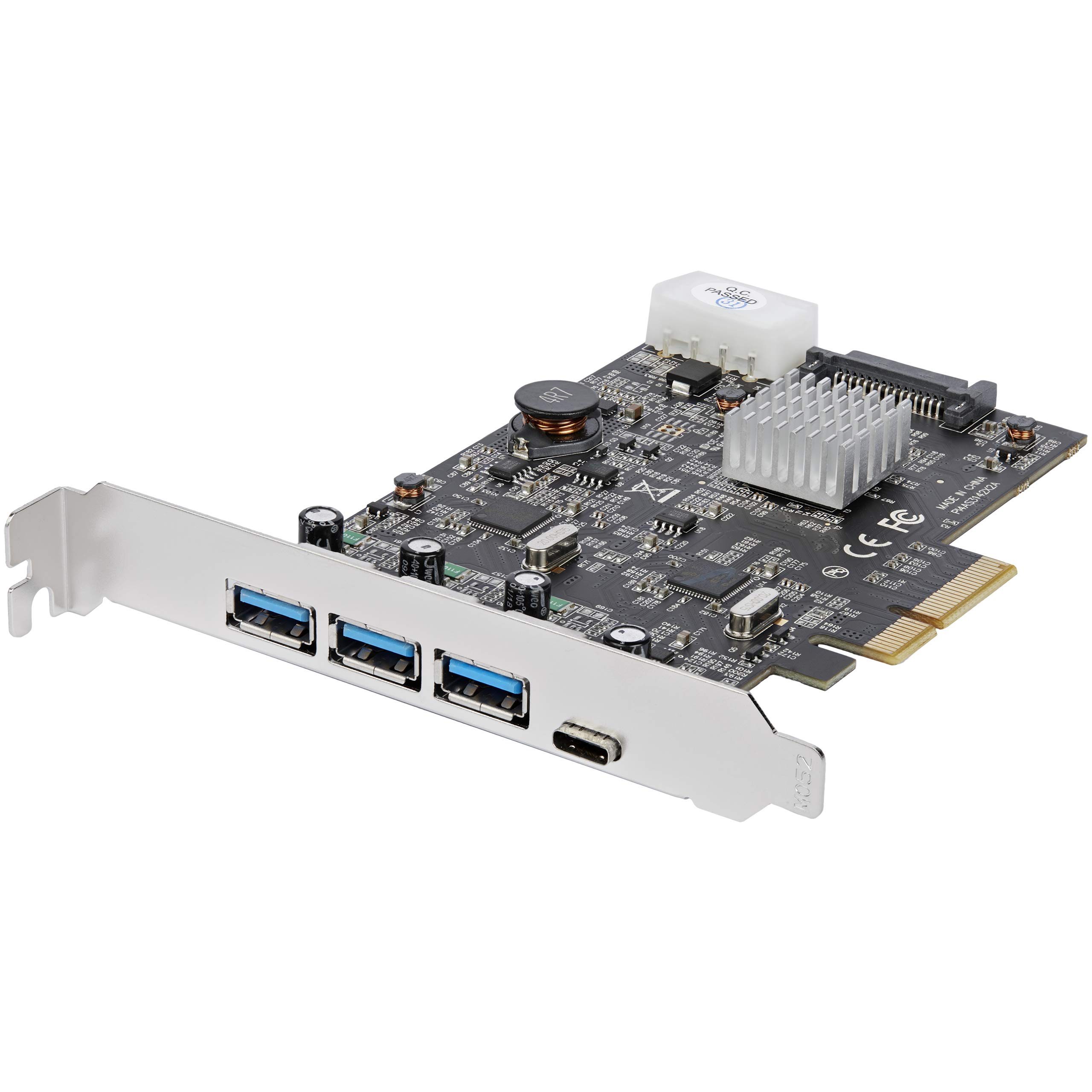 USB 3.1 PCIe Card - 3X USB-A and 1x USB-C - 2X Dedicated Cha