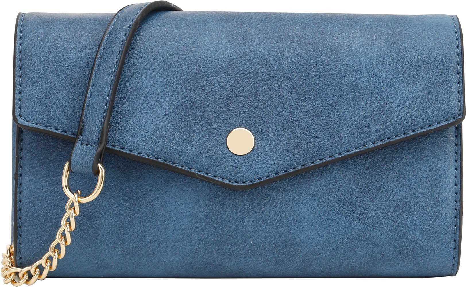 Lily Jane Women's Clutch Crossbody Wallet with Chain Strap (Blue)