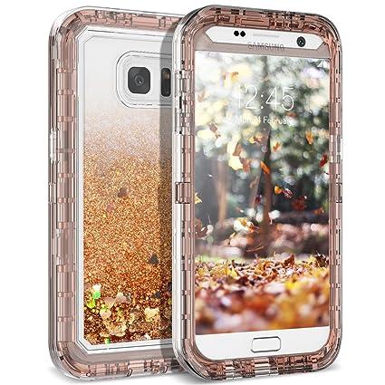Amazon.com: Funda Galaxy S7 Edge, dexnor purpurina 3d Bling ...