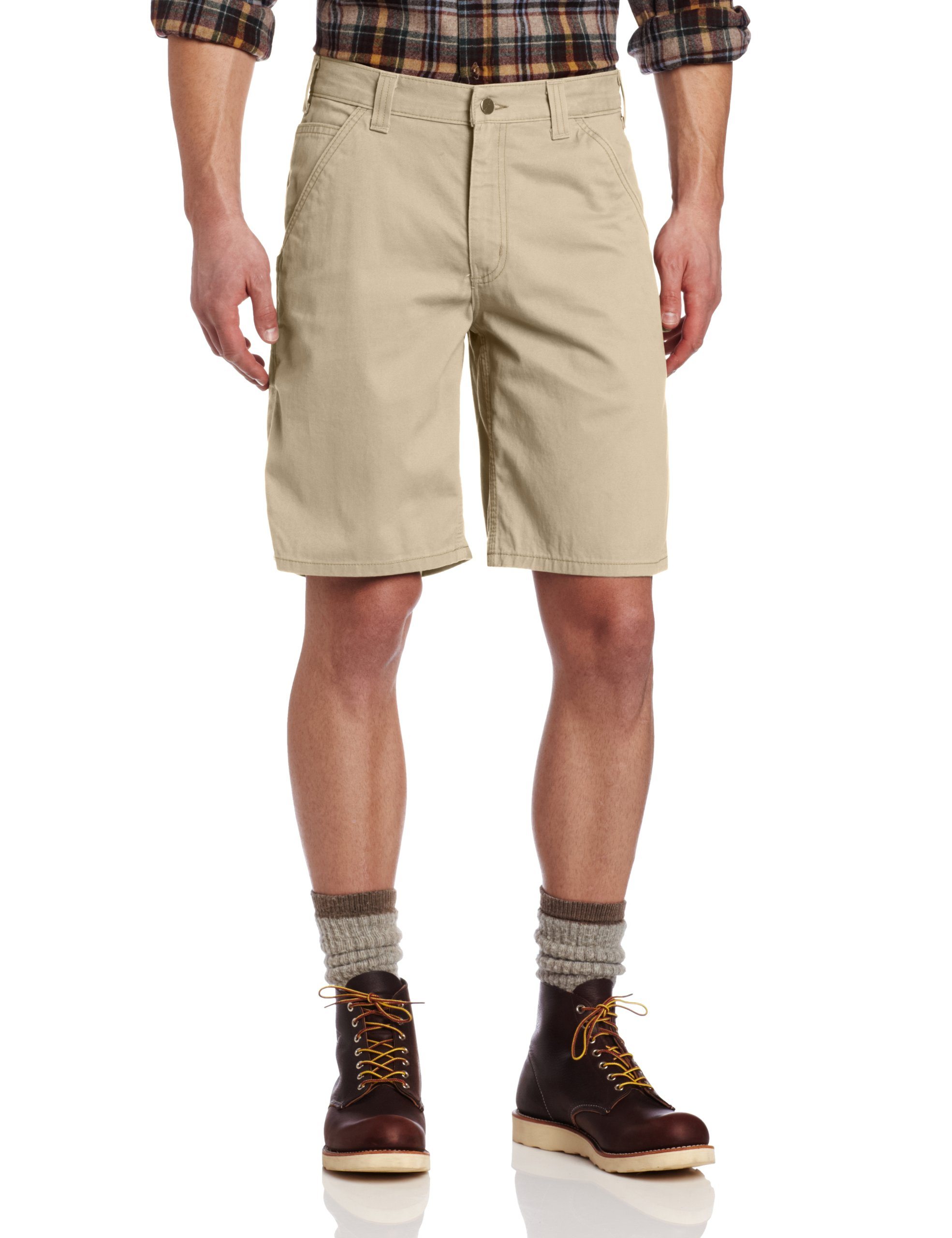 Carhartt Men's Washed Twill Dungaree Short Relaxed Fit,Field Khaki,33