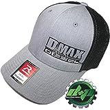 b5c398133e12a Dmax Duramax Truck hat Richardson 110 Gray Denim Black mesh Diesel L XL