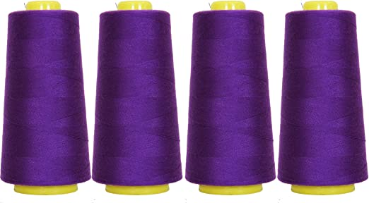 5x Baby Pink polyester sewing thread overlocker cottons for outdoor covers