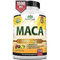 Organic Maca Root Black, Red, Yellow 1900 MG per Serving - 150 Vegan Capsules Peruvian...