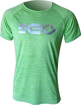 Camiseta Running Ekeko Teide Verde Flash, Camiseta Pro competicion,Atletismo, Running, maraton, 21k, competicion: Amazon.es: Deportes y aire libre