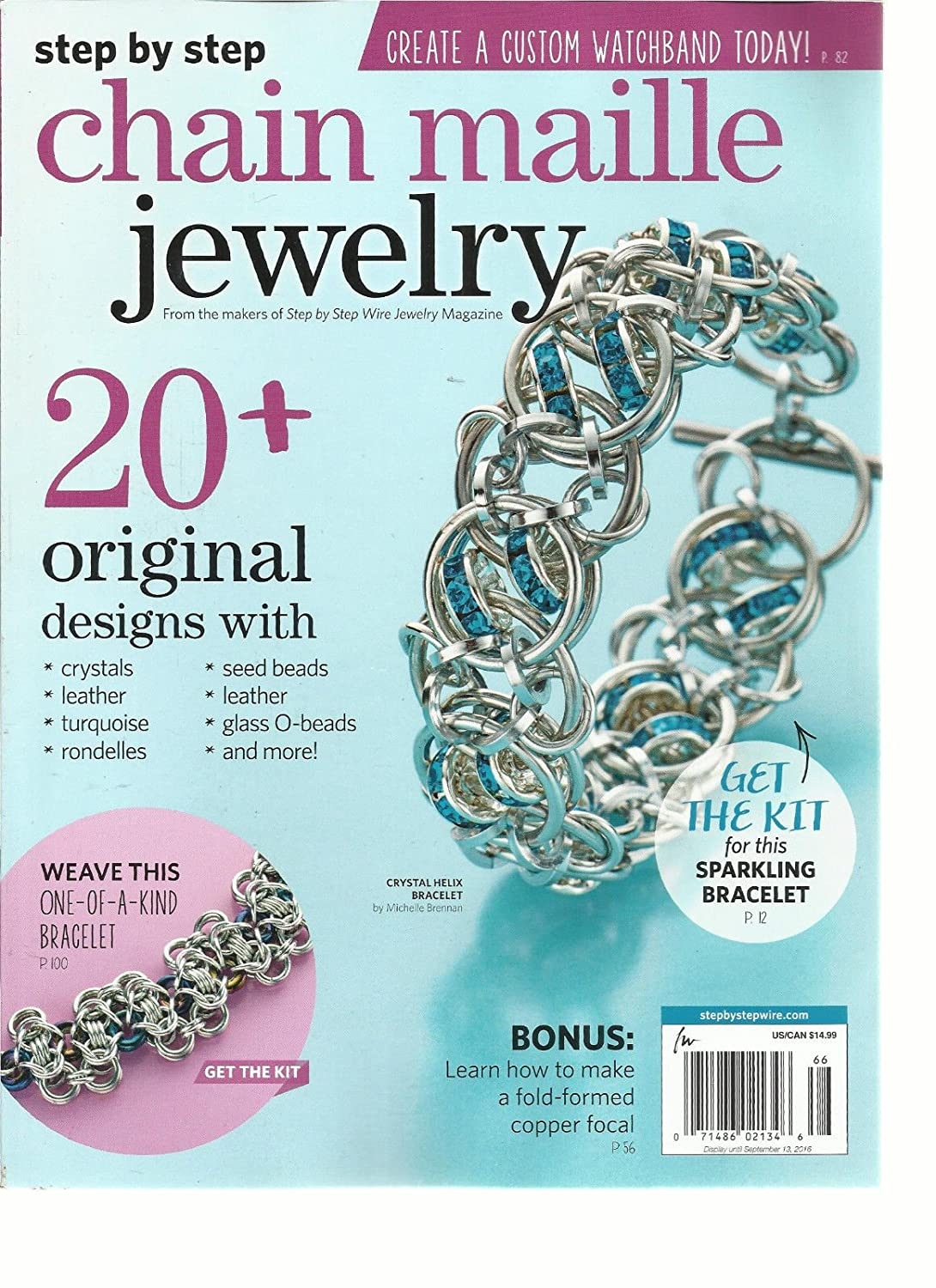 STEP BY STEP CHAIN MAILLE JEWELRY MAGAZINE, 20 + ORIGINAL DESIGNS ISSUE, 2016 s3457