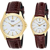 Casio MTP-1183Q-7A Men's Gold Analog Dress Watch w/Croc-Leather Band & Date