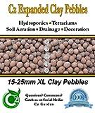 ORGANIC XL Leca Clay Pebbles Grow Media - Orchids • Aquaponics • Aquaculture • Hydroponics - by Cz Garden Supply (2 LB - XL Clay Pebbles)