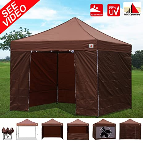 AbcCanopy 10x10 EZ Pop up Canopy Tent Instant Shelter Commercial Portable Market Canopy with Matching Sidewalls & Amazon.com: AbcCanopy 10x10 EZ Pop up Canopy Tent Instant Shelter ...