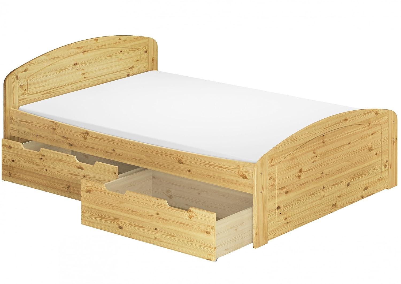 Beeindruckend Doppelbett Mit Bettkasten Dekoration Von Funktionsbett + Rollrost Matratze 140x200 Seniorenbett Massivholz