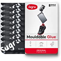 Sugru Moldable Glue - Original Formula - All-Purpose Adhesive, Advanced Silicone Technology - Holds up to 4.4 lb - Black…