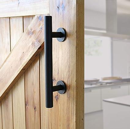 "amazon com heavy duty 12\"" pull and flush barn door handle set"