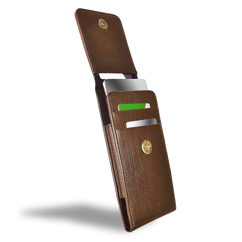 AXELENS Funda Cartuchera Universal para Smartphones Clip de Cuero ...