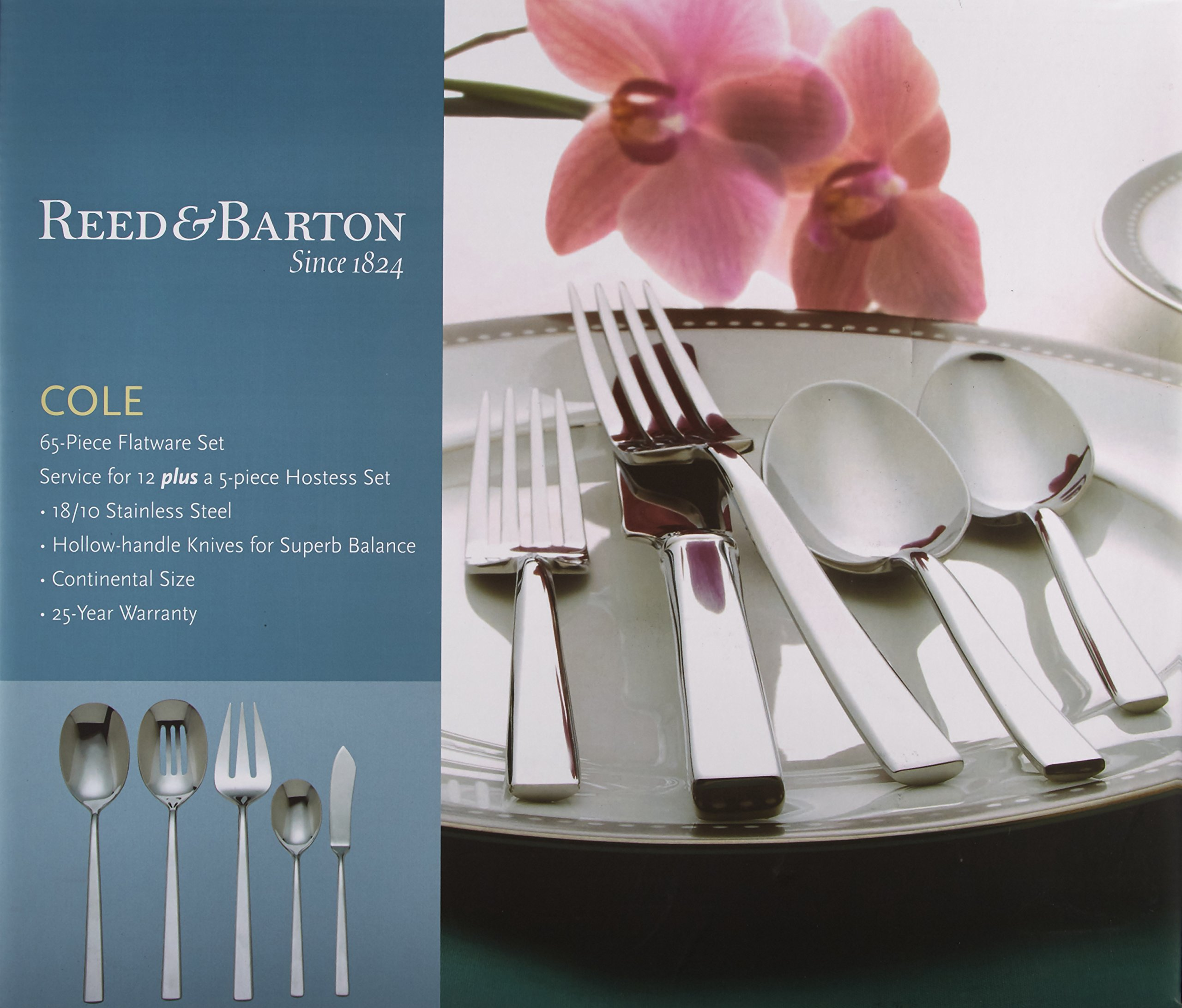 Reed & Barton Cole 18/10 Stainless Steel 65-Piece Set by Reed & Barton (Image #2)