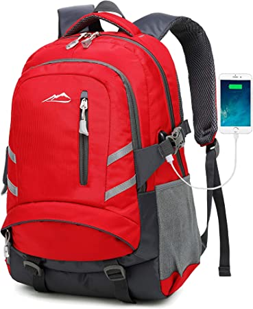 Backpack for School College Student Bookbag Travel Business with USB Charging