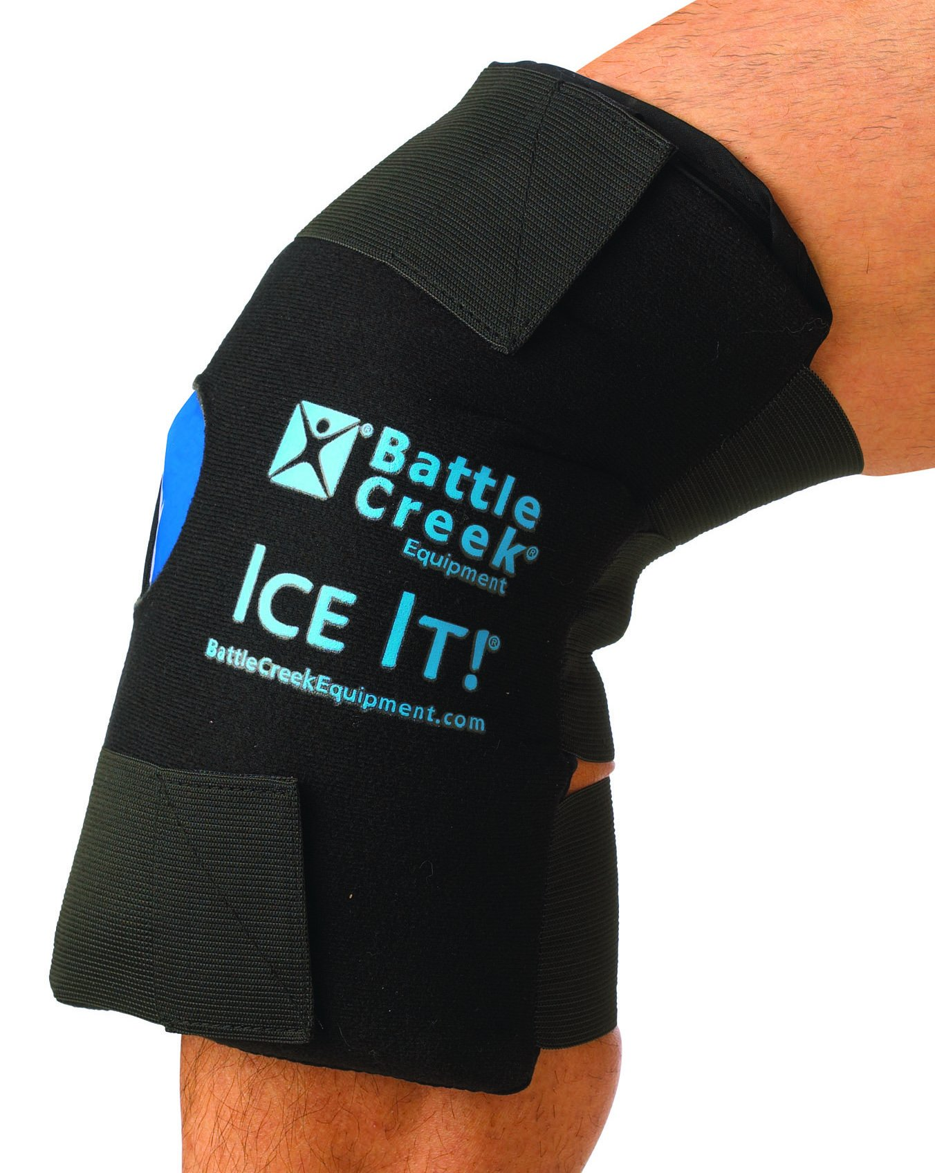 Hot and Cold Therapy Knee Wrap - With Bonus Gel Pack by Ice It!