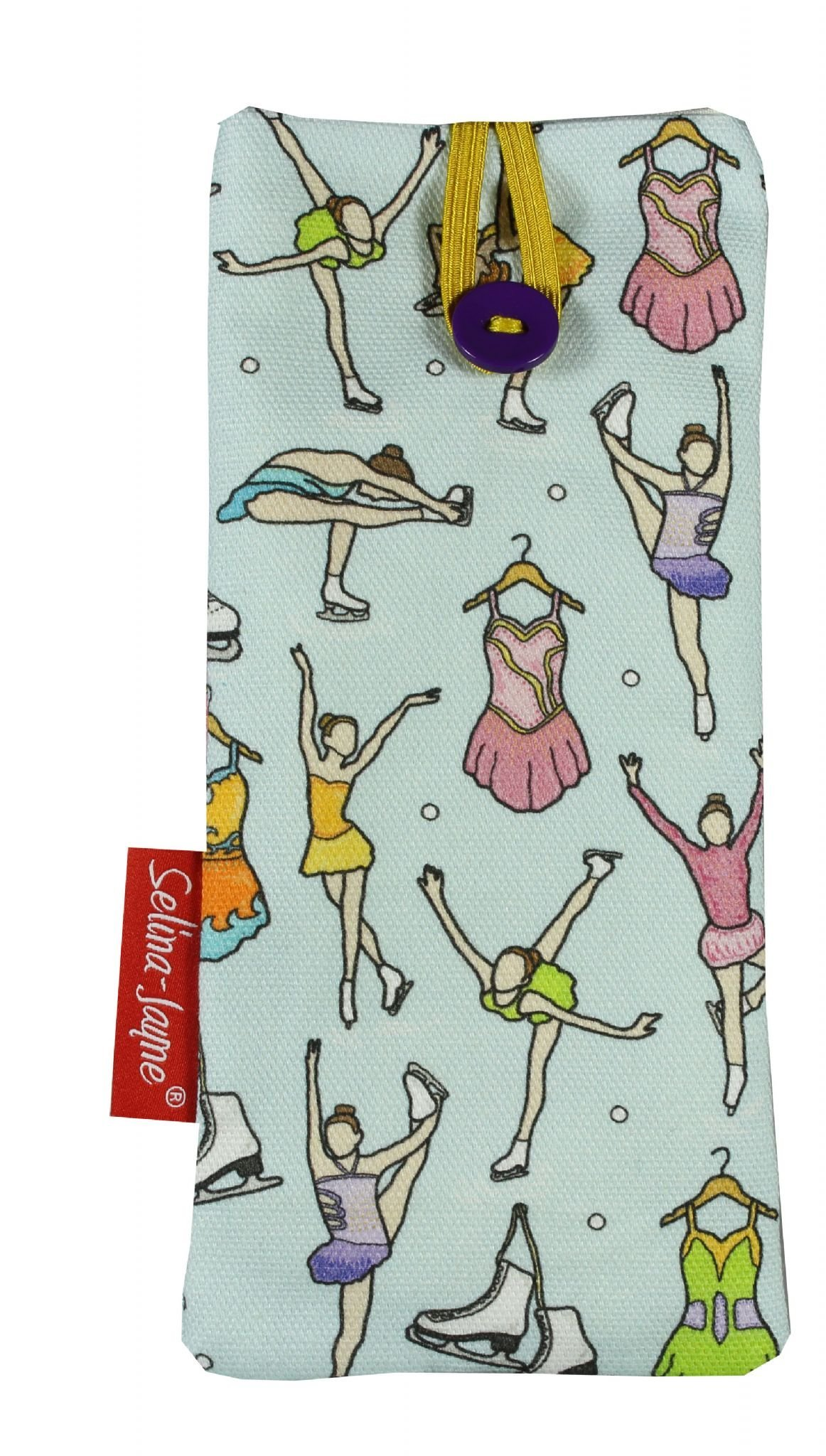Selina-Jayne Ice Skating Limited Edition Designer Soft Fabric Glasses Case