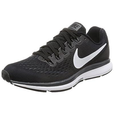 Nike Women's Air Zoom Pegasus 34 Running Shoe Black/White-Dark Grey-Anthracite 8.5 | Road Running