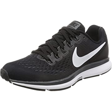 reliable Nike Womens Air Zoom Pegasus 34 Black/White/Dark Grey/Anthracite Running Shoes