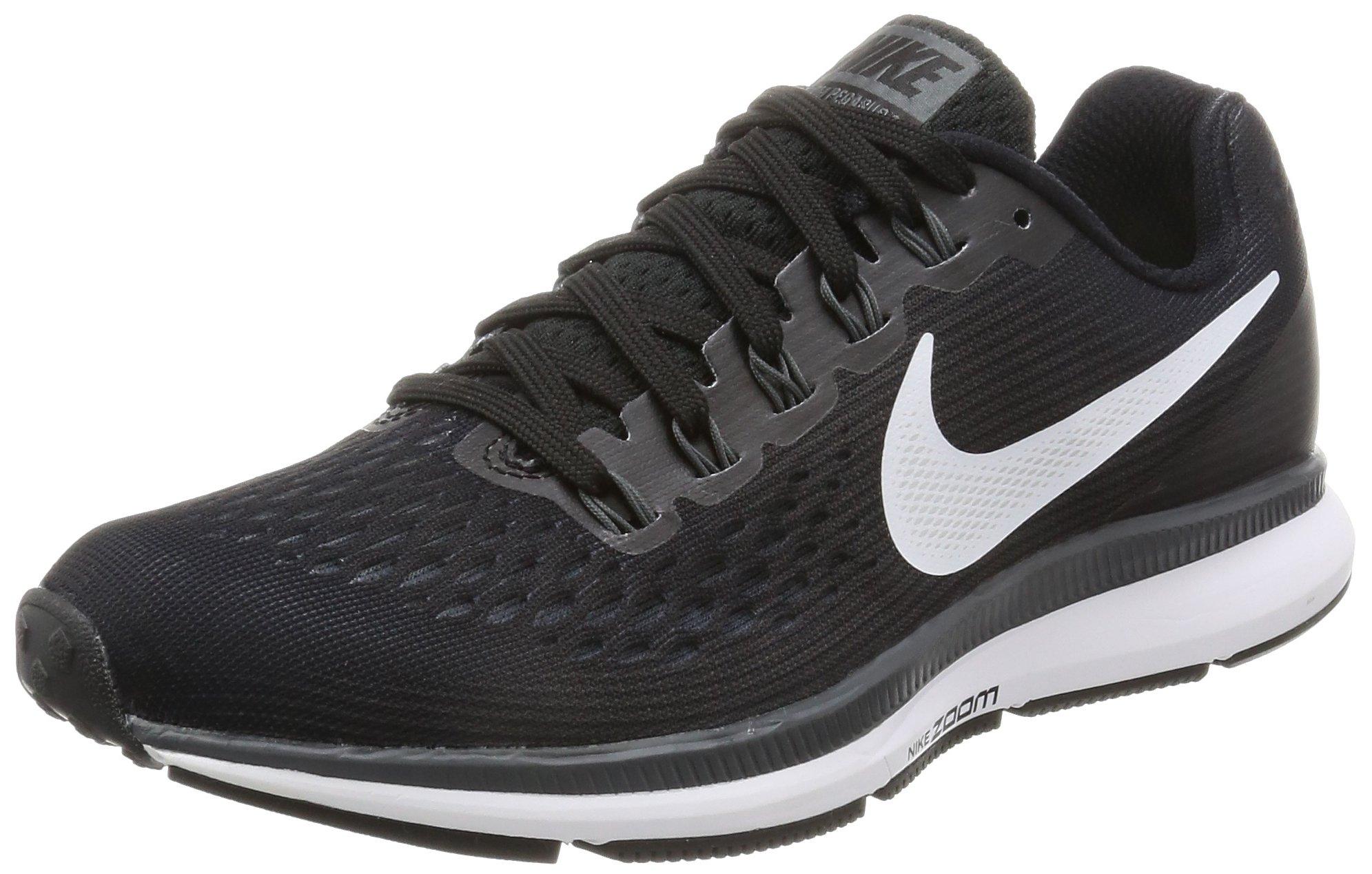 Nike Women's Air Zoom Pegasus 34 Running Shoe BLACK/WHITE-DARK GREY-ANTHRACITE 8 by Nike