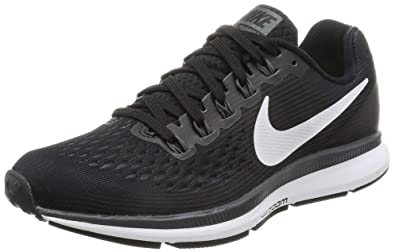 Nike Womens Air Zoom Pegasus 34 BlackWhiteDark GreyAnthracite Running Shoes (7)