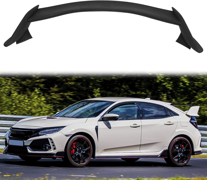 X AUTOHAUX Matt Black Rear Trunk Wing Spoiler for Honda Civic 16 ...