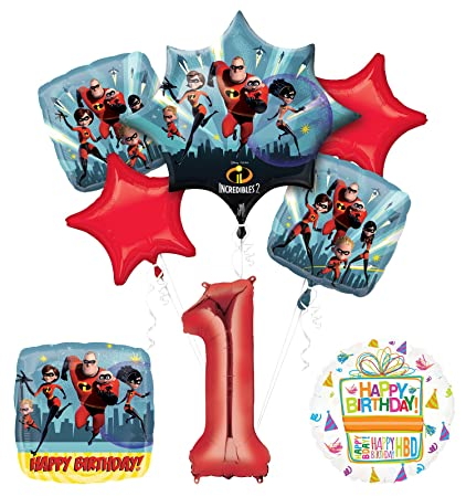 Amazon.com: Incredibles 2 suministros para fiestas 1st ...