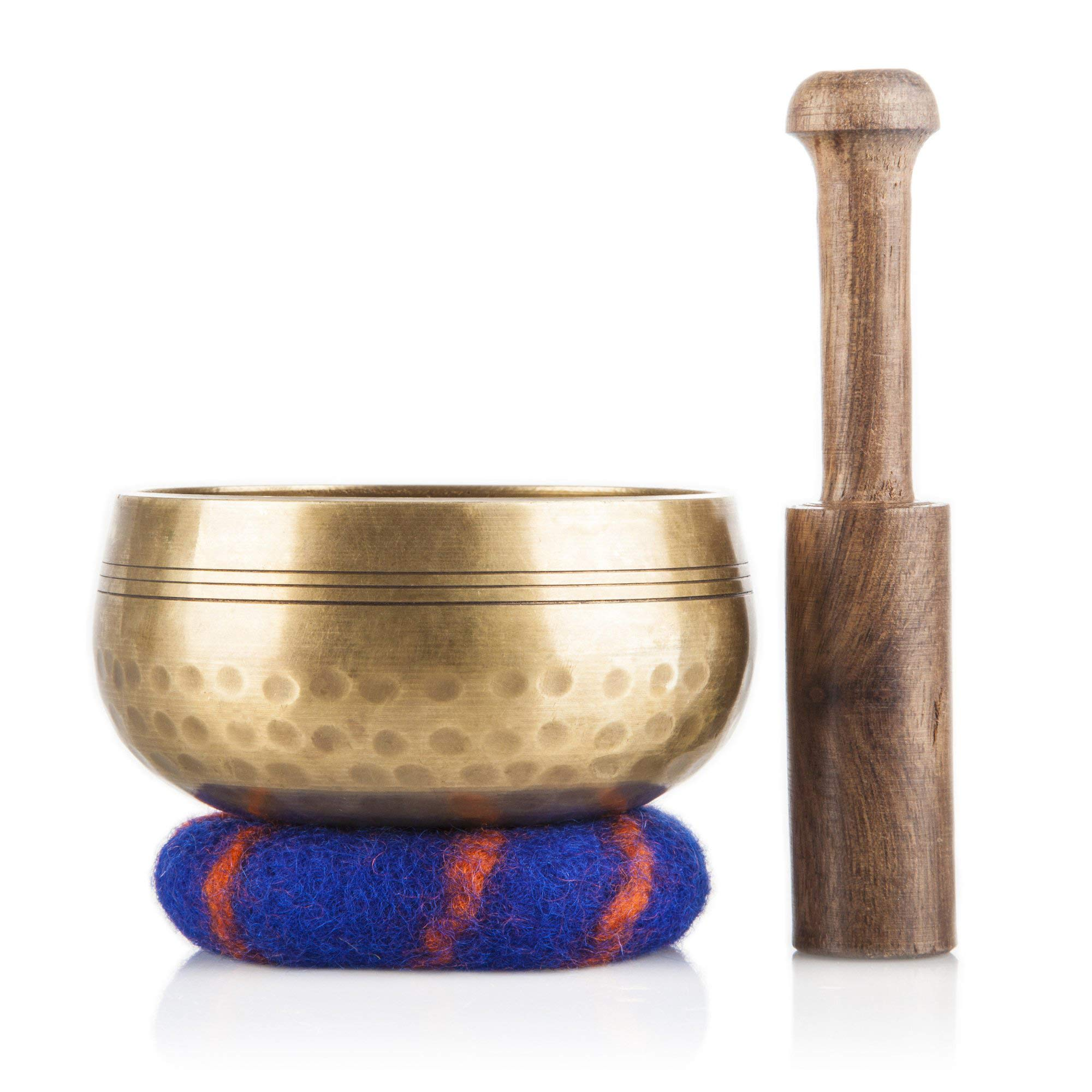 Tibetan Singing Bowl Set - Meditation Sound Bowl Handcrafted in Nepal for Healing and Mindfulness by Ohm Store