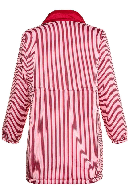 Ulla Popken Women's Plus Size Reversible Stripe Waterproof Jacket Red 12/14 714533 51 by Ulla Popken (Image #6)