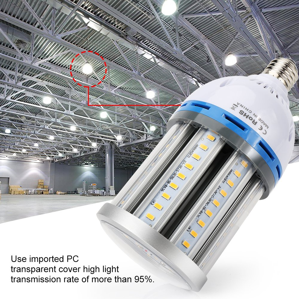 Derlights 5th Generation 35W LED Corn light Bulb, 200 Watt Replacement, Daylight 6000K, E27 Medium Screw Base, 360¡ã Flood Light AC 85-265V, Perfect for Warehouse Outdoor Street and Area Lighting