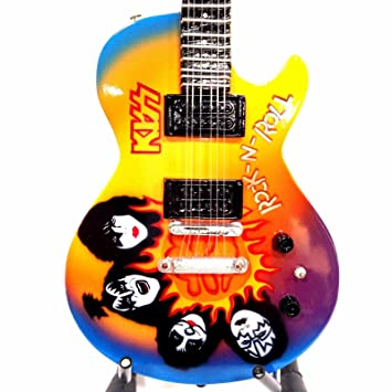 Kiss – Rock And Roll Past Midnight Tribute – Réplica Guitarra En Miniatura Exclusive
