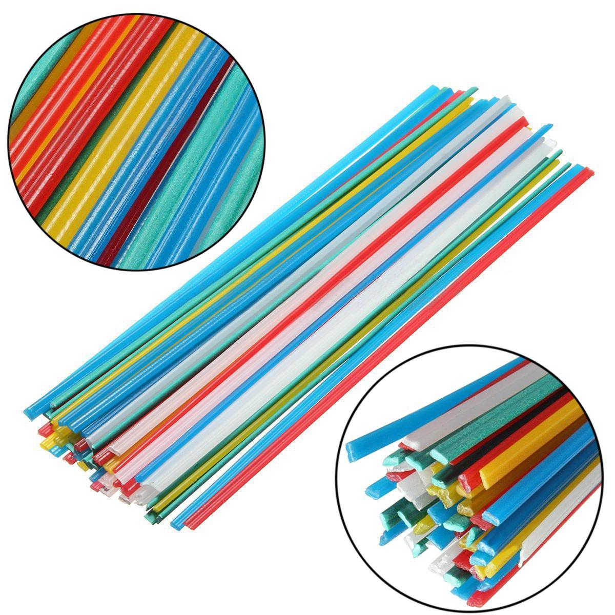50pcs Plastic Welding Rods Welder Sticks Welding Purposes 5 Colors Mayitr