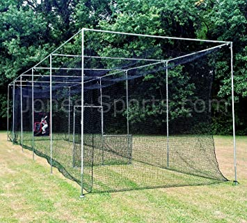 JONES SPORTS 42PLY MEDIUM DUTY #24 BATTING CAGE WITH FRAME KIT FOR BASEBALL,