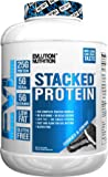 Evlution Nutrition Stacked Protein Protein Powder with 25 Grams of Protein, 5 Grams of BCAA's and 5 Grams of Glutamine (4 LB, Cookies & Cream)