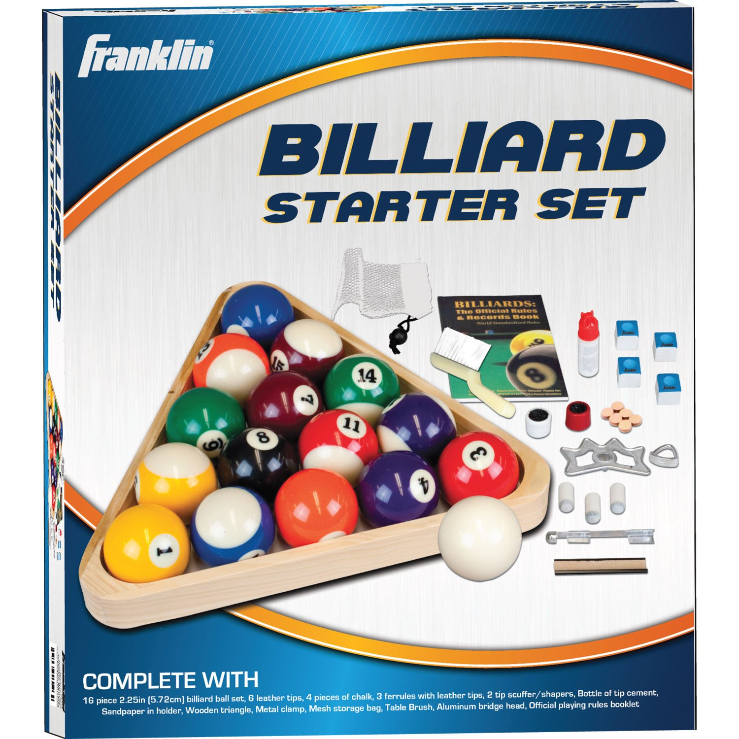 Amazon.com : Franklin Sports Billiards Deluxe Starter Kit (Multi Color) :  Billiard Balls : Sports U0026 Outdoors