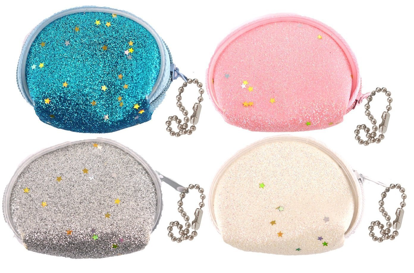 24 x Mini Glitter Purse 6.5cm The Harlequin Brand