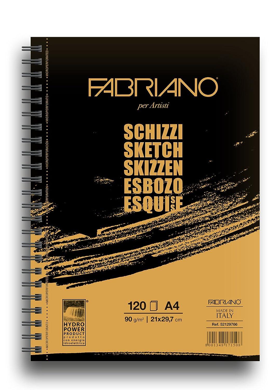 Fabriano 8001348171508/quaderno a spirale A4/per Schizzo Bianco