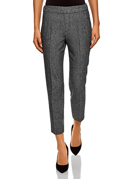 oodji Ultra Mujer Pantalones Ajustados con Elástico aeec564b29f1