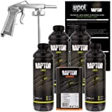 U-POL Raptor Black Urethane Spray-On Truck Bed Liner Kit w/ FREE Spray Gun, 4 Liters