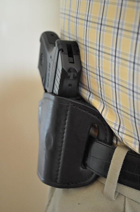 Black Leather Belt Holster for Ruger LCP  380