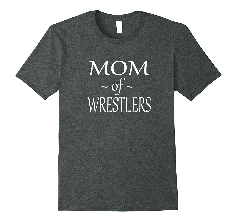 Funny Wrestling Mom T Shirt Mom of Wrestlers-Vaci