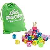 WDK Partner A1300760 - Jeux de société - Jeu de Dés Dingues 64 dés