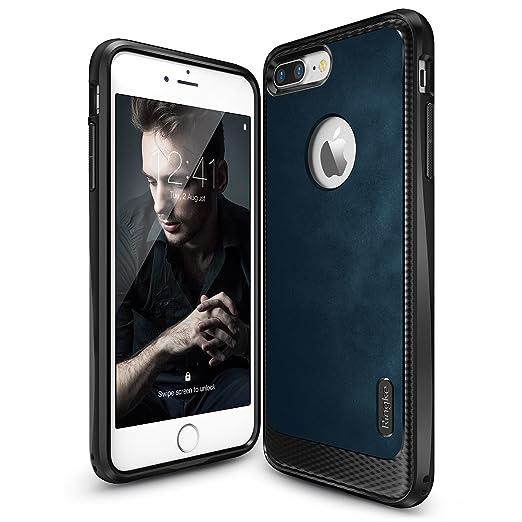 10 opinioni per Custodia iPhone 7 Plus, Ringke [Flex S Series] Coated Strutturato Stile di Cuoio