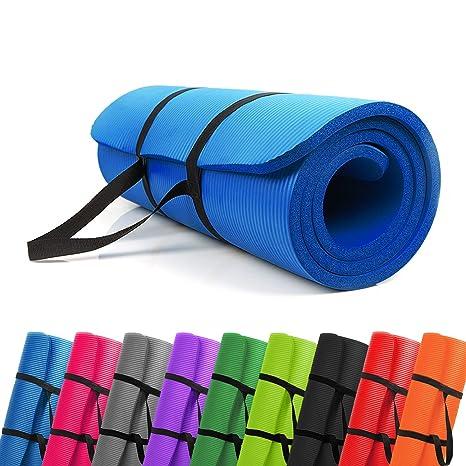 PROMIC Trainingsmatte, Yogamatte, 183 cm x 61 cm x 1,5 cm, 187 cm x 60 cm x 1,5 cm Pilates Matte, für Yoga, Pilates und ander