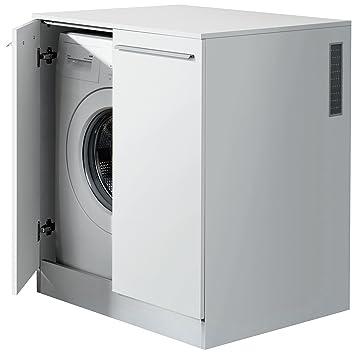 Fackelmann Waschmaschinen Unterbauschrank Für Waschmaschinen / Korpus Farbe  Weiß / Front Farbe Weiß / Schrank