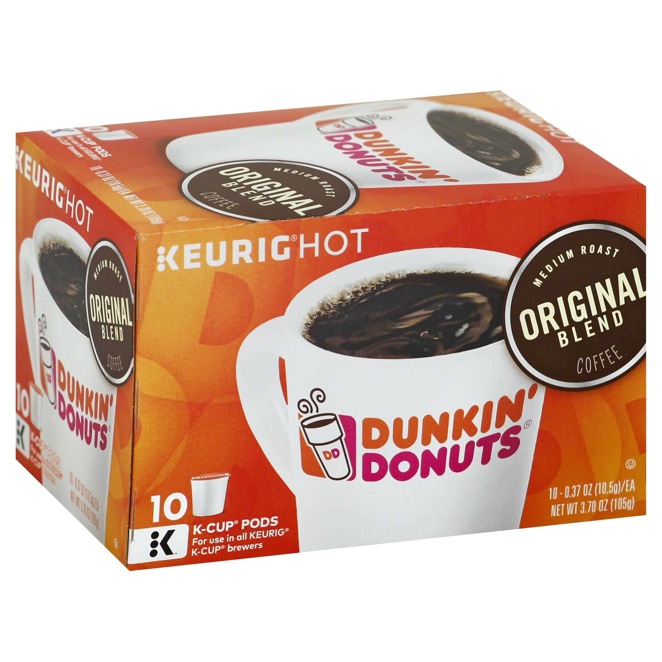 Dunkin' Donuts Original Blend Coffee for K-cup Pods, Medium Roast, For Keurig Brewers, 60 Count by Dunkin' Donuts