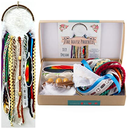 Amazon Make Your Own DIY Dream Catcher Craft Project Kit Colorful Unisex Do It Yourself Birthday Gift