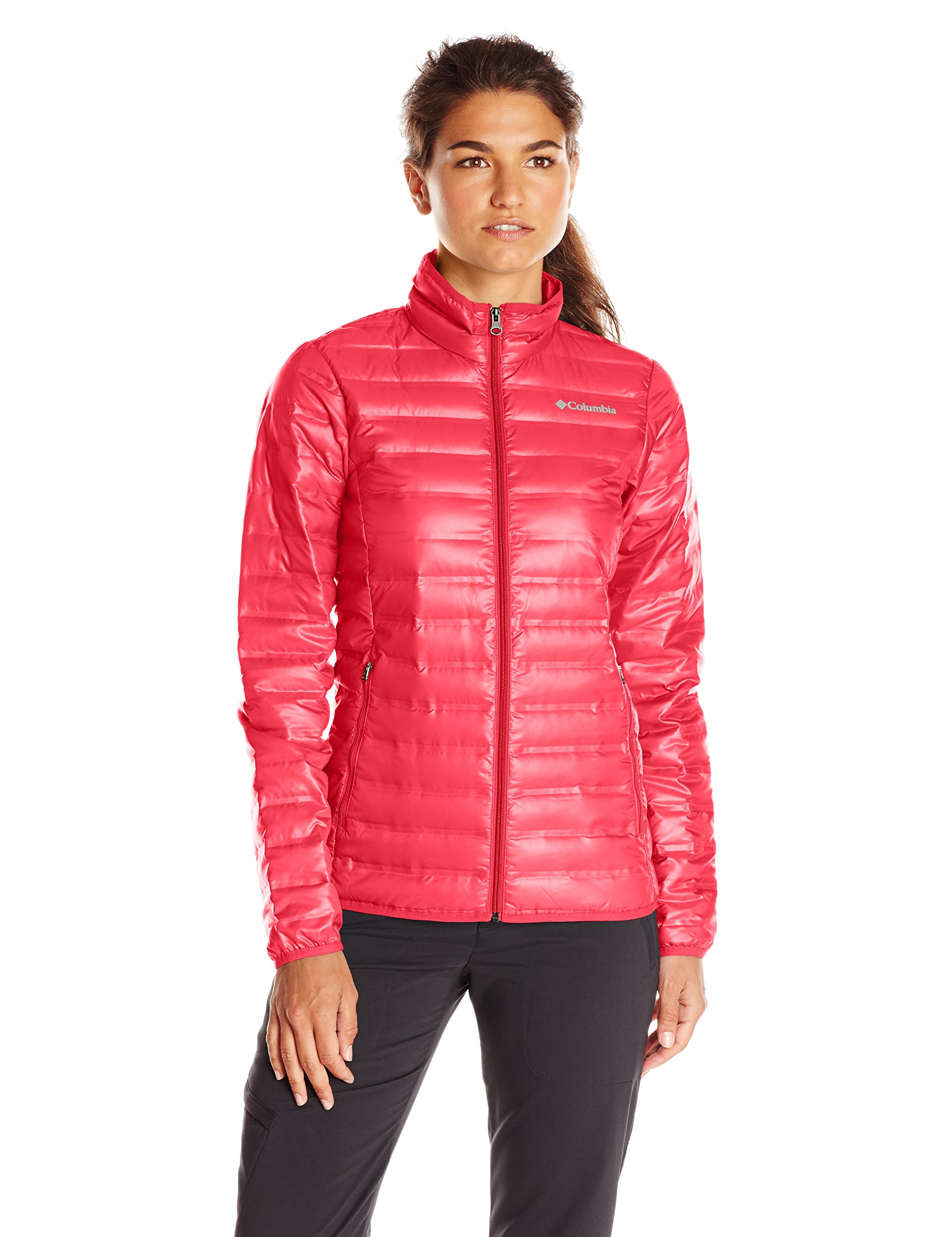 Columbia Women's Flash Forward Down Jacket, Red Camellia/Spray, Small